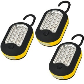 3 Pack 27 LED Compact Work Lights