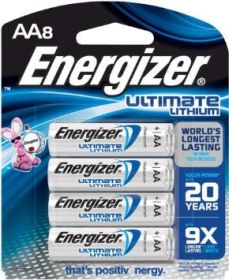 Energizer L91BP-8 Ultimate Lithium AA Battery