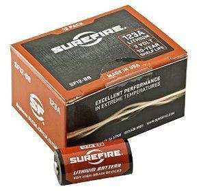 Surefire 12 Pack Boxed 123A Lithium Batteries