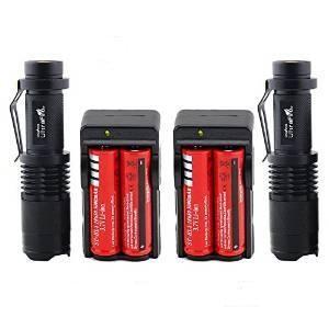 Two Ultrafire XML T6 LED flashlights