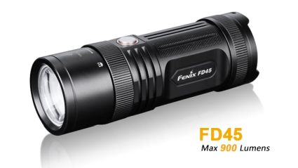 The Fenix FD45 Is An AA Powered Flashlight Which Features A Rotary Focusing  Function In The Neck That Regulates The Focus Between Spot And Floodlight.